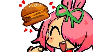 double hamburger please