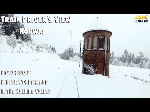 TRAIN DRIVER'S VIEW: Winter Wonderland In The Halling Valley
