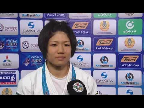 Interview Misato Nakamura (JPN) winner -52kg Judo World Championships  Astana 2015