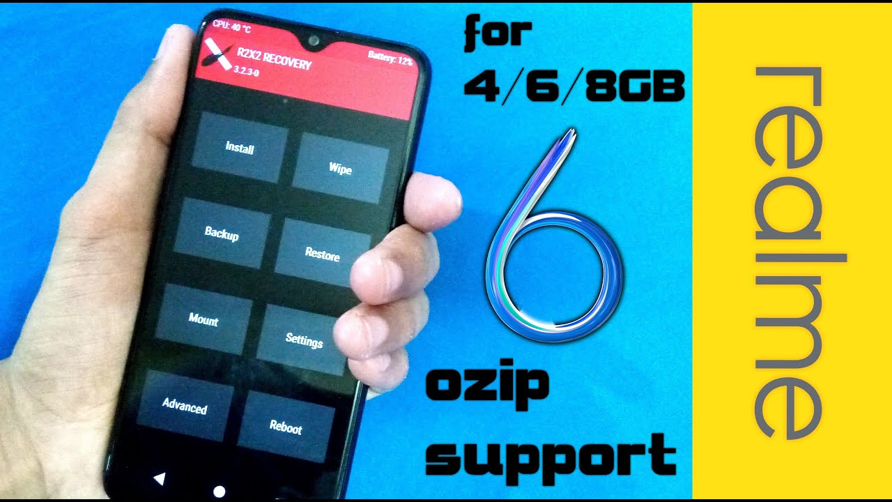 R2X2 Recovery [Powerful red][Recovery][PIE/C… | Realme 2 pro