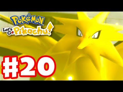 Legendary Pokemon Zapdos - Pokemon Let&39;s Go Pikachu and Eevee - Gameplay Walkthrough Part 20