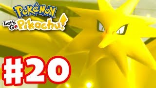 Legendary Pokemon Zapdos! - Pokemon Let's Go Pikachu and Eevee - Gameplay Walkthrough Part 20