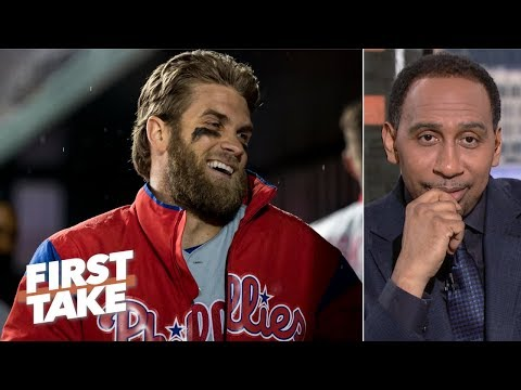 Bryce Harper didn't deserve to be booed by Nationals fans – Stephen A. | First Take