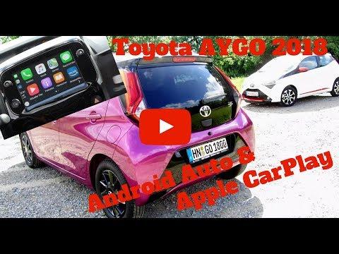 Apple CarPlay und Android Auto im Toyota AYGO 2018 - Deutsch
