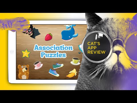 iPad educational game for kids - Association Puzzles