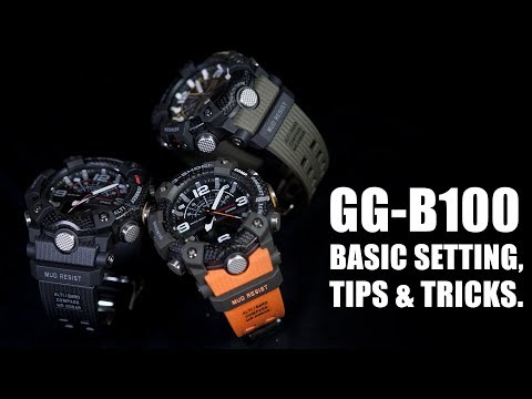 BASIC SETTING, TIPS & TRICKS - G-SHOCK GG-B100 ( BAHASA & ENGLISH SUBS)