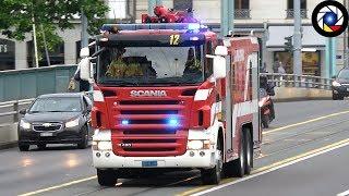 [RARE] Départ Incendie Grande Puissance Mousse Pompiers de Genève