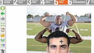 شرح برامج تركيب الوجوه وترطيب الصور faceon body