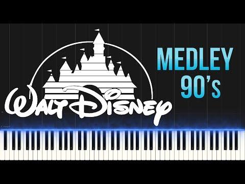 Disney 90s Medley Piano Tutorial Synthesia