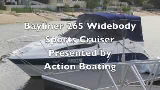Bayliner 265 Widebody Sports Cruiser for sale Action Boating Gold Coast Queensland Australia