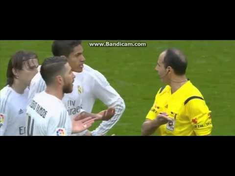 Red Card for Raphael Varane Real Madrid vs Athletic Bilbao 4 1 La Liga 2016 HD