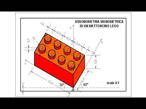 Assonometria Monometrica di un mattoncino Lego - YouTube