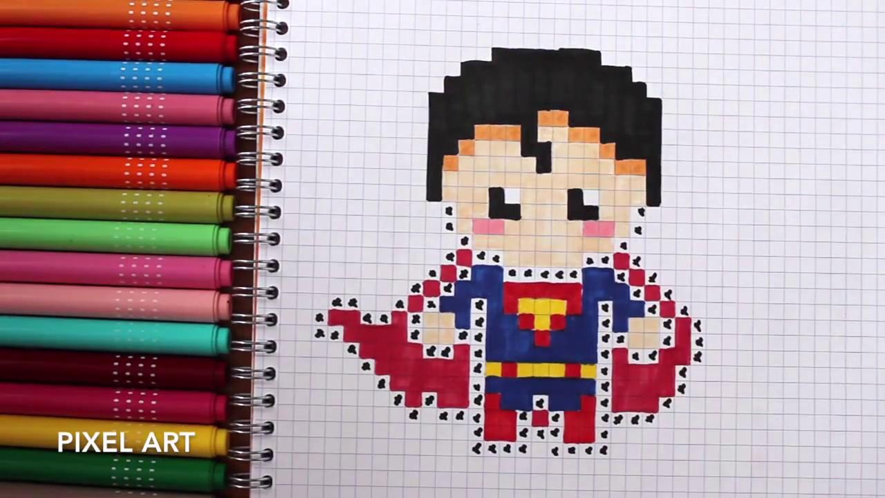 Logo De Superman Pixel Art