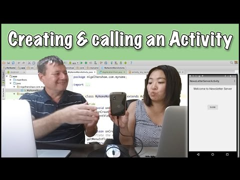 Wife learns android programming - creating & calling a new activity