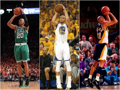 The Art of Shooting - Steph Curry, Ray Allen, Reggie Miller - YouTube