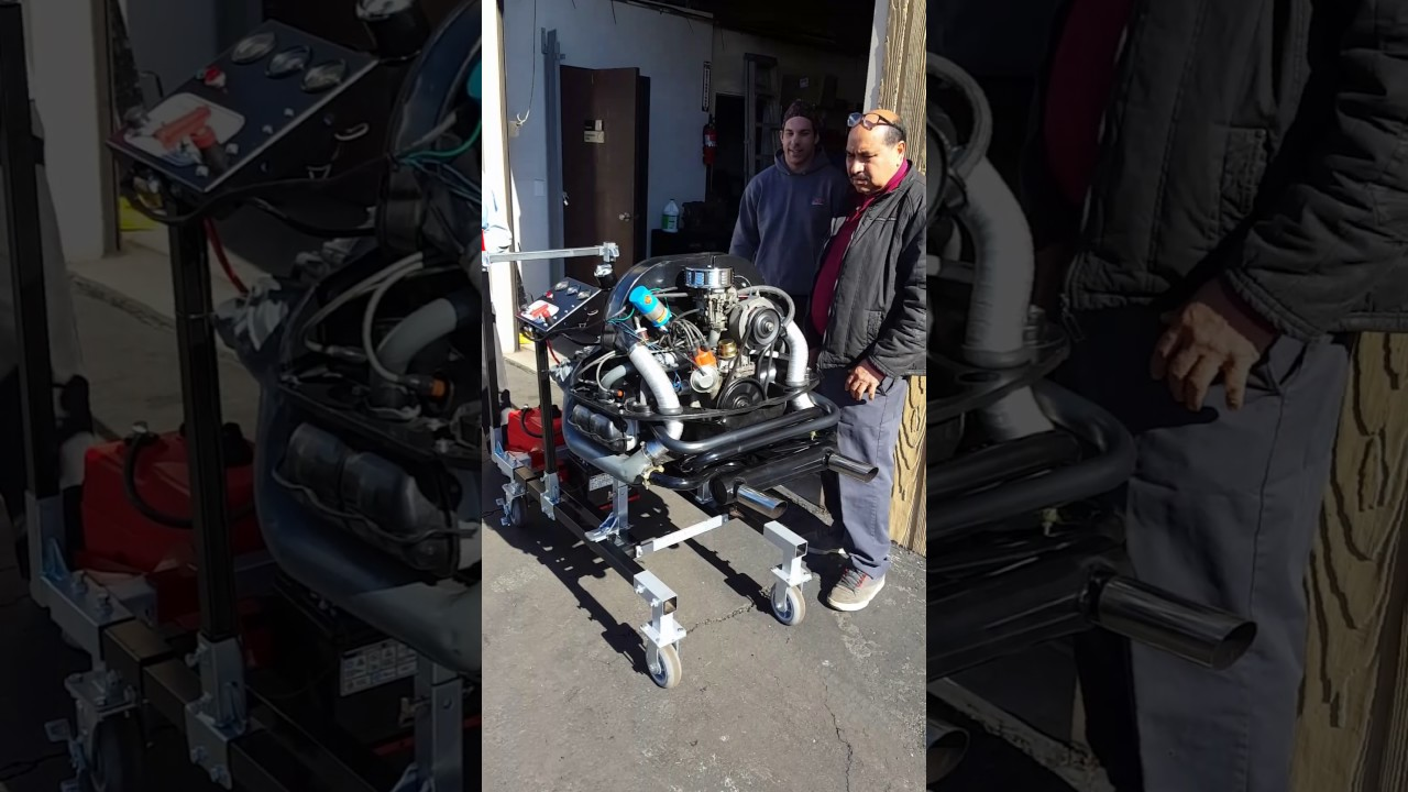 small resolution of vw motor on the easy run engine test stand