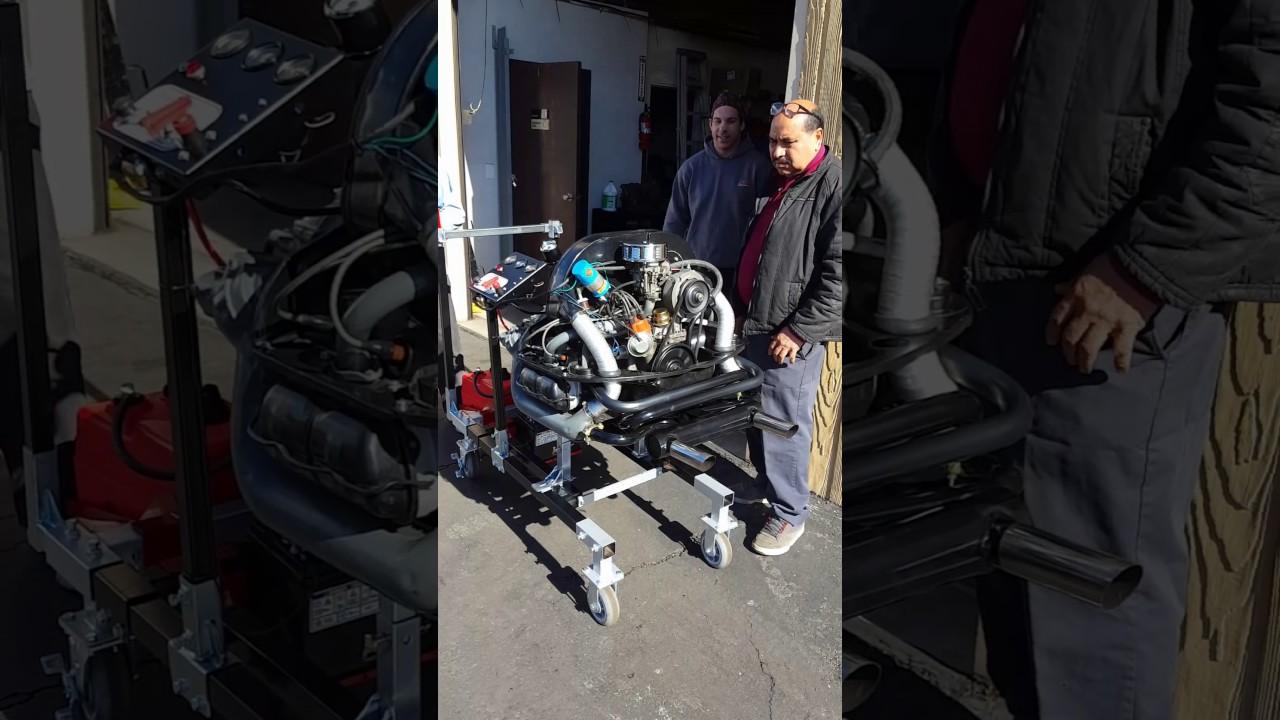 medium resolution of vw motor on the easy run engine test stand