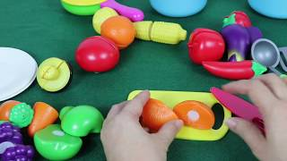 CUTTING FRUITS & VEGETABLES | Kitchen Play Set - Fun Toys for Kids
