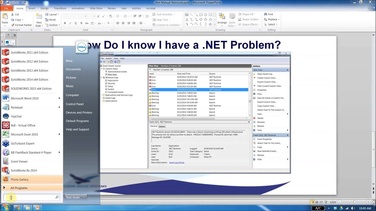 SOLIDWORKS - Manually Repairing Microsoft .NET Framework - YouTube