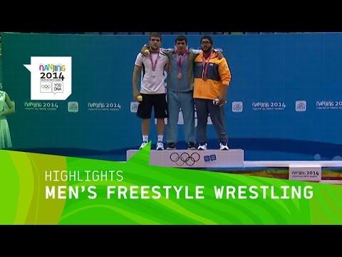 Igbal Hajizada Wins Men's Freestyle Wrestling Gold - Highlights | Nanjing 2014 Youth Olympic Games