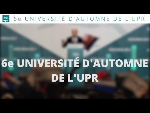 6e Université d'automne de l'UPR - Teaser