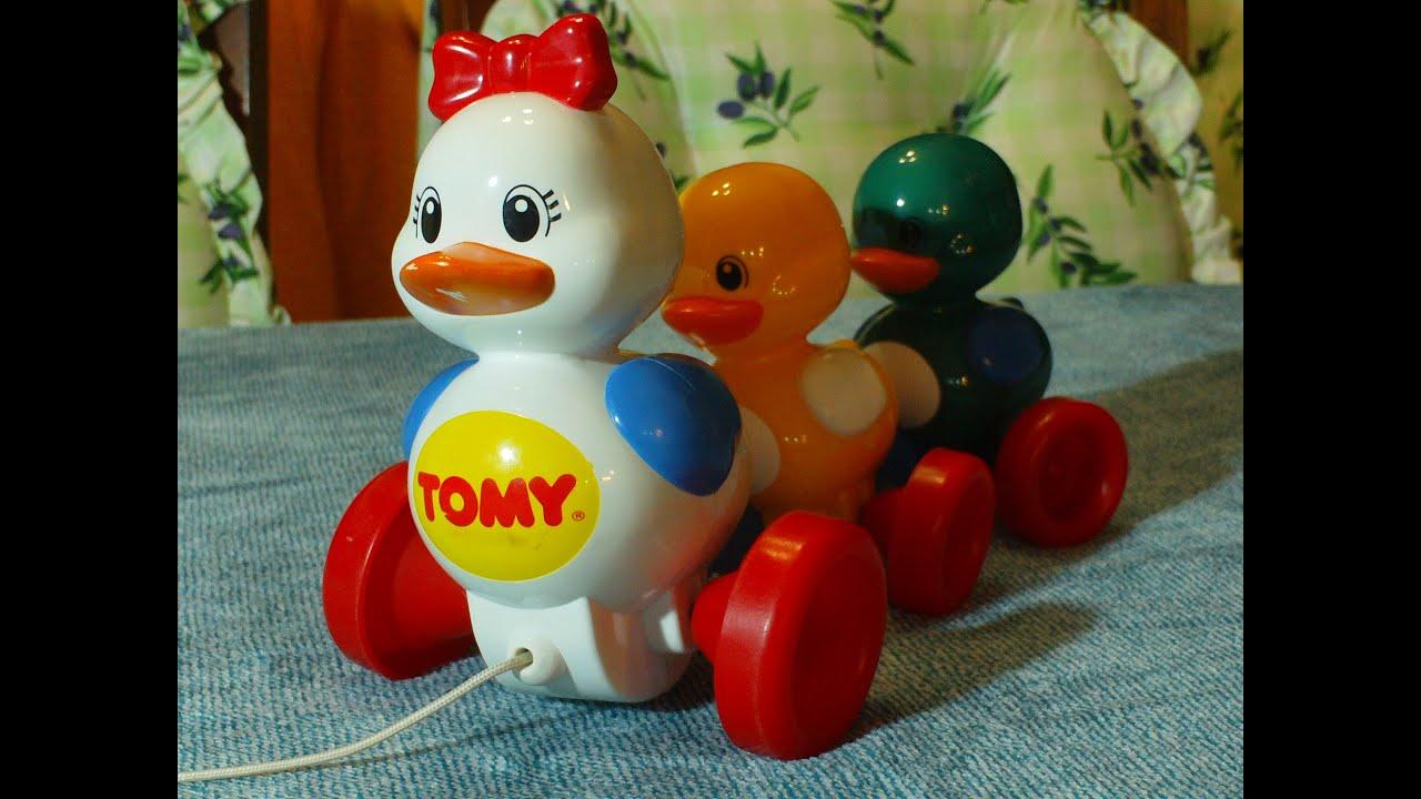 Video for Children Toy Ducks Tomy Pull Along Duck Set for Kiddies ...