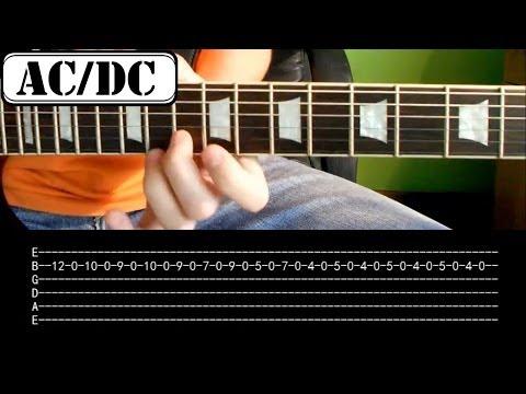 Jak zagrać - AC/DC - Thunderstruck - Riff - Lekcja na gitarze HD