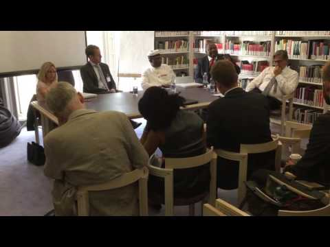 African in chief discussing African corruption and the anti-corruption commission uk