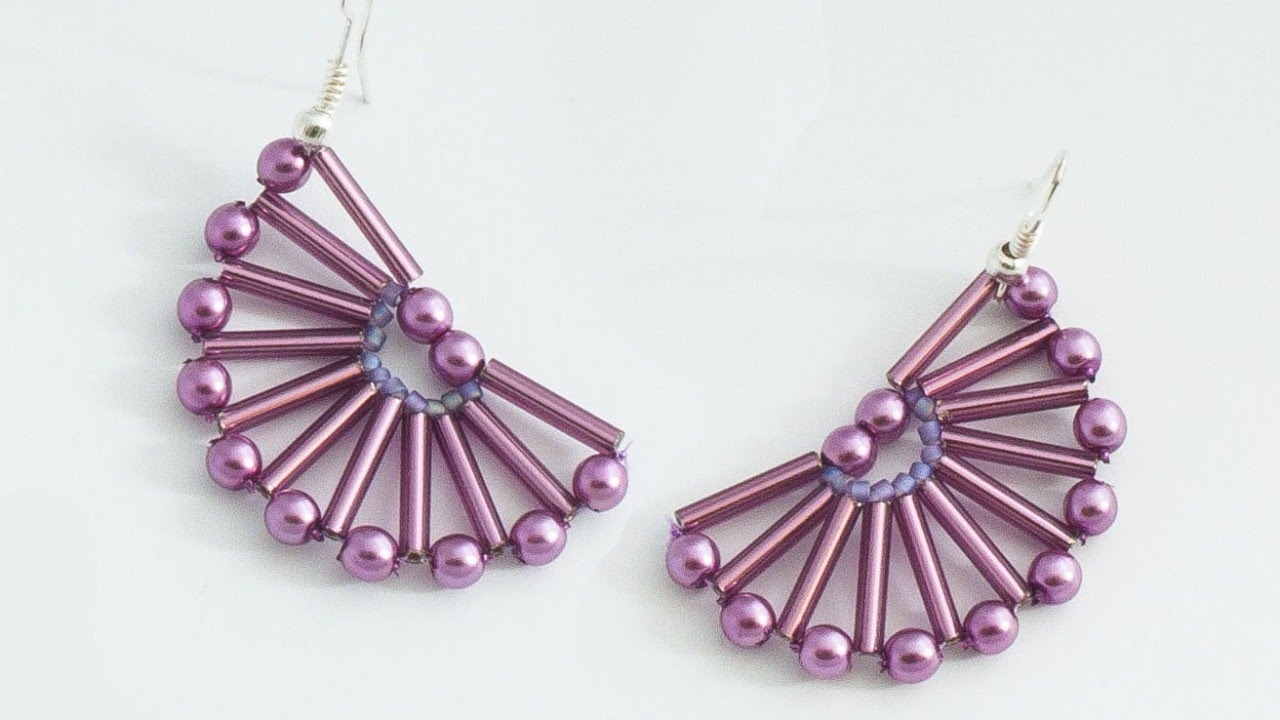 Make Nice Semicircle Beaded Earrings Diy Style Guidecentral