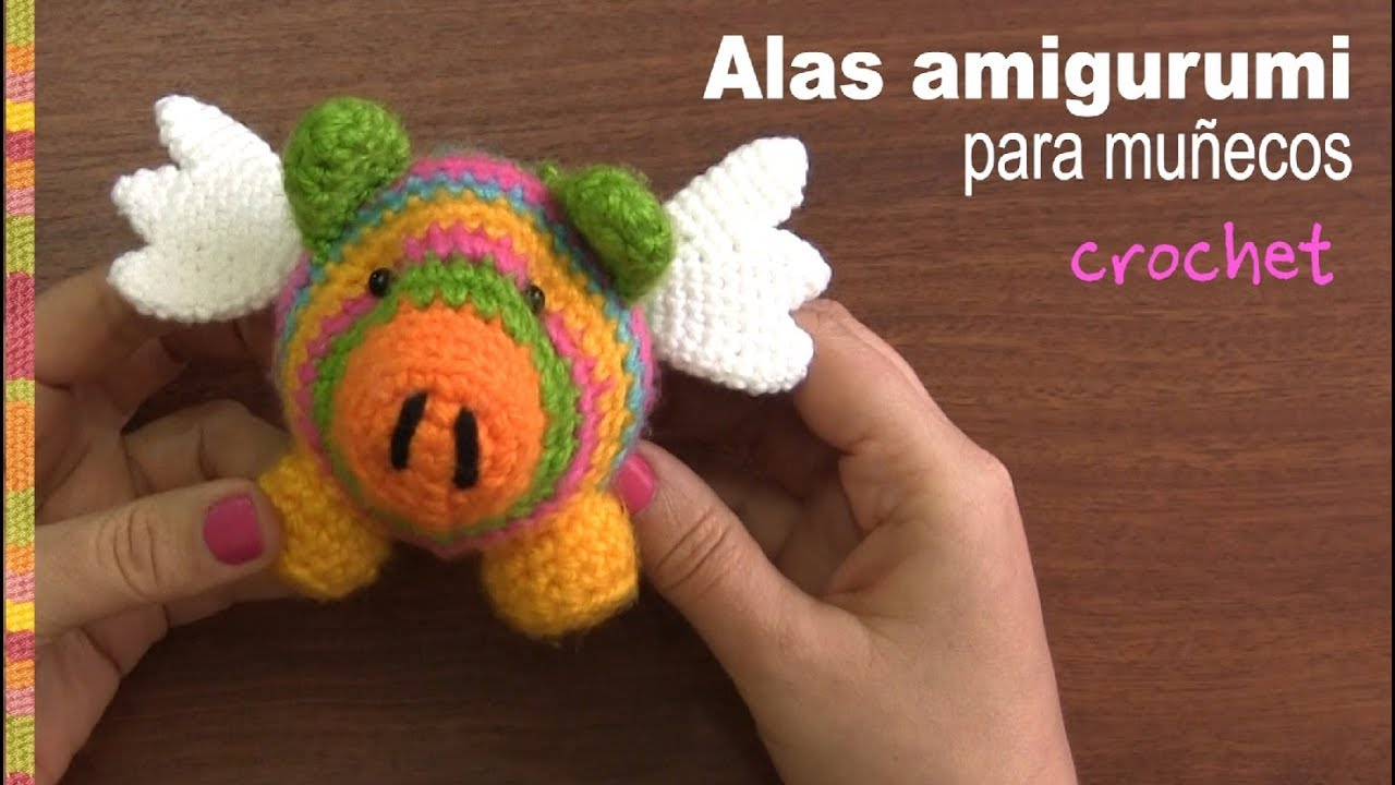 Tejiendoperu Crochet Amigurumis : Alas amigurumi para muñecos crochet tejiendo perú youtube