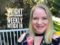Weight Watchers Smart Points Weigh In - Fall Goals