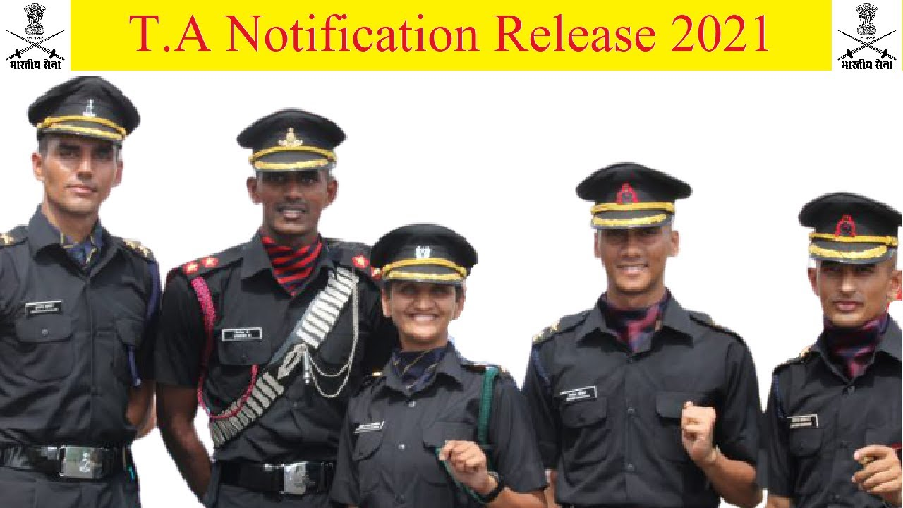 T.A start online {Territorial Army} complete notification 2021