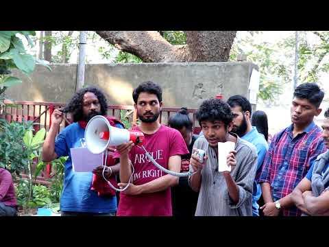 TISS Student's Strike against withdrawl of GoI scholarship-Day 2