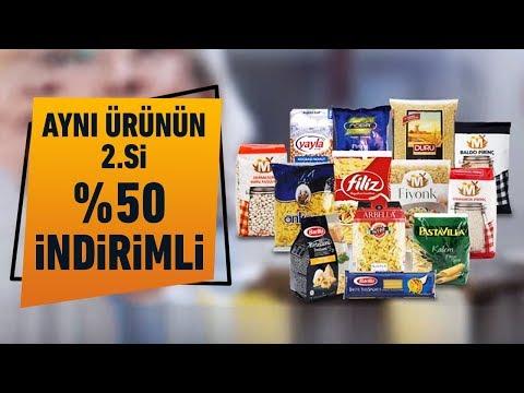 Tüm Bakliyat, Bulgur, Pirinç ve Makarna Çeşitlerinde Aynı Ürünün 2.'si %50 İndirimli!