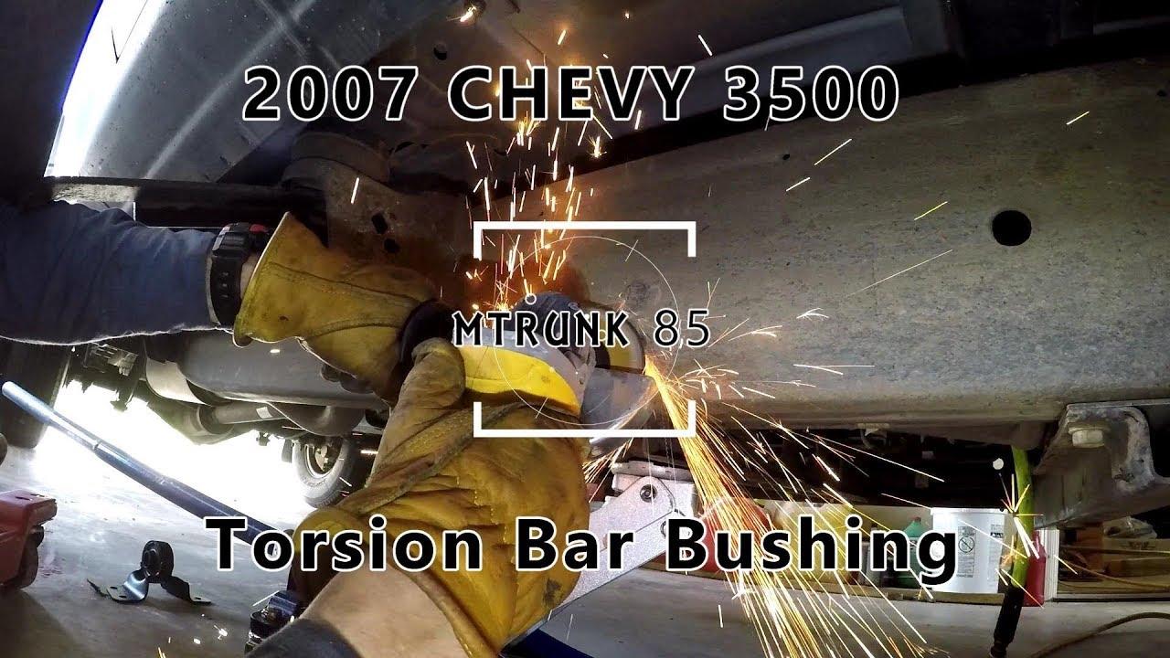 Torsion Bar Bushing Replacment 07 Chevy 3500 Silverado Duramax Youtube