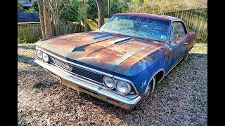 Watch Us Buy (Price Revealed) & Start Original Owner 1966 Chevelle SS 396, Sunk 35 years in Backyard
