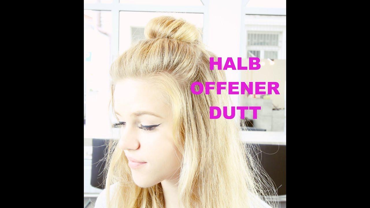 Halb Offener Dutt Minutenfrisur Auch Für Kurze Haare Geeignet