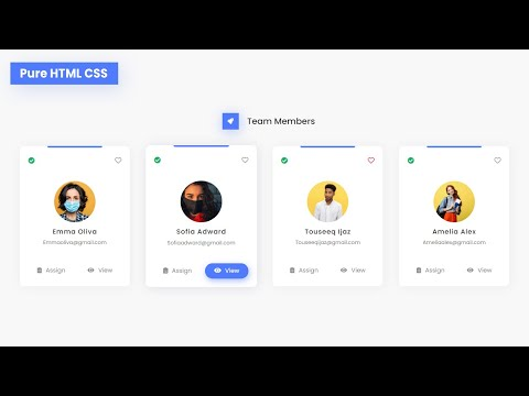 How To Create Responsive Our Team Section Using HTML And CSS