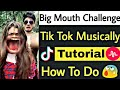 Big Mouth Challenge Tik Tok Musically Tutorial | How To Make Funny Big Mouth Video In Tik Tok