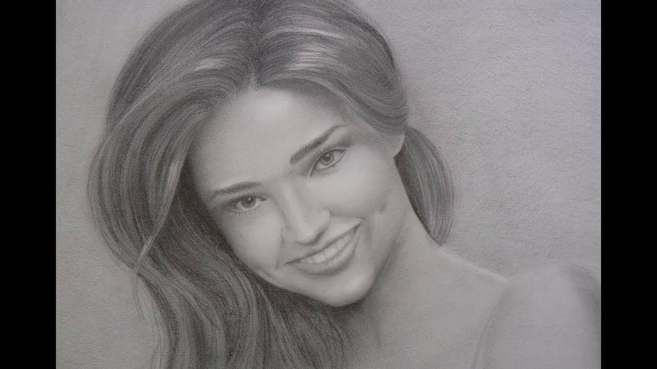 Cute Girl Sketch Wallpaper Retrato De Miranda Kerr C 243 Mo Hacer Un Retrato Con Sonrisa