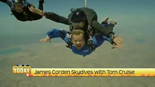NDT James Corden Skydives with Tom Cruise