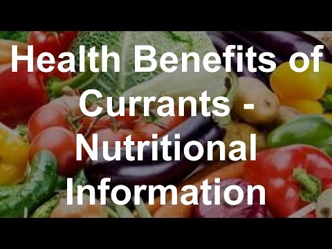 Health Benefits of Currants Nutritional Information