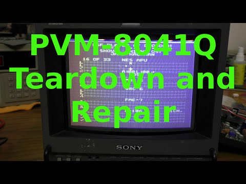 Sony PVM-8041Q Monitor Teardown and Repair
