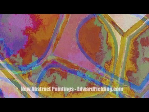 New abstract paintings (details) by Edward M. Fielding