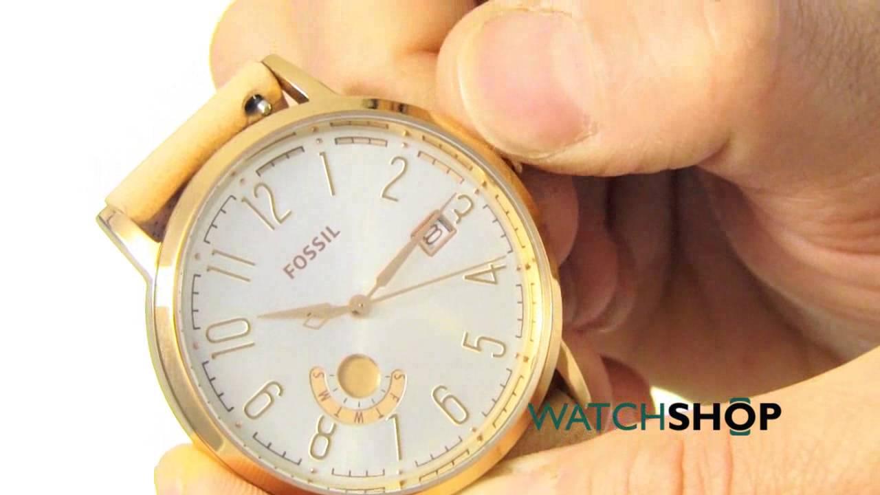 Fossil Ladies Vintage Muse Watch Es3751 Youtube Es3380 Original Boyfriend Chronograph Rose Tone