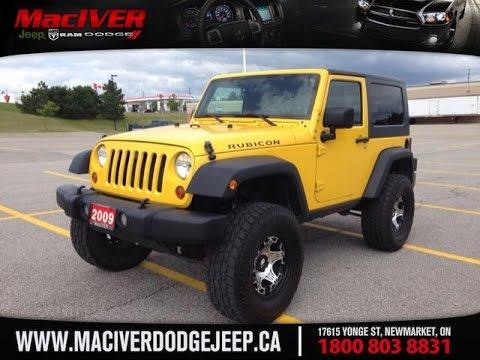 2009 Yellow Jeep Wrangler Rubicon w/ 2.5
