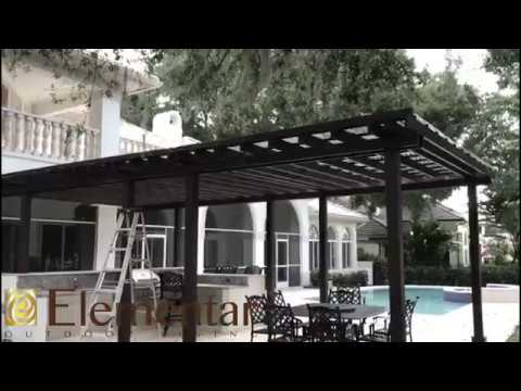 Work of the day (Wood Pergola with Plexiglass Roof Cover ... on Elementar Outdoor Living  id=77992