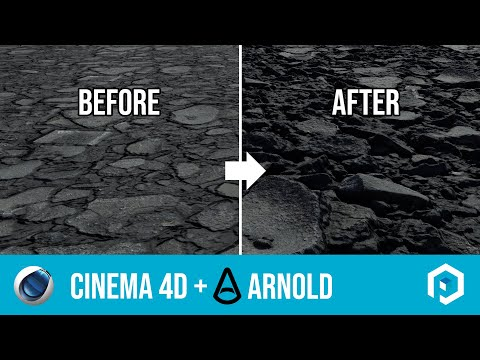 Using Poliigon displacement textures in Cinema 4D with Arnold