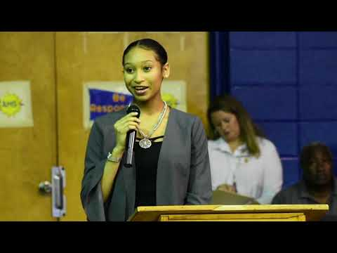 "Daijah ""Pinky"" Abercrombie- 2018 Aliceville Middle School Commencement Ceremony"