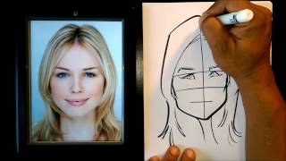 How To Draw Woman Caricature Head Shapes